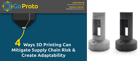 Mitigating Risk and Creating Adaptability with GoProto ANZ 3D Printing