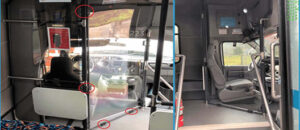 3D Printed Sneeze Guard Fittings for buses